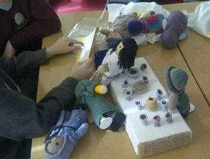 knitted last supper 1