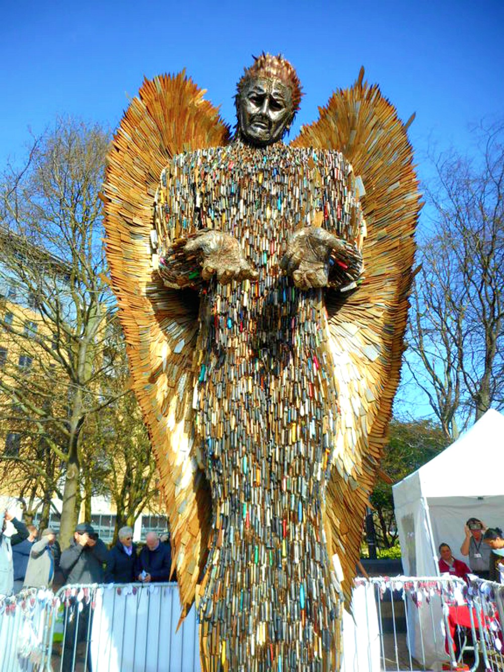 Knife angel full Janet Ulliott