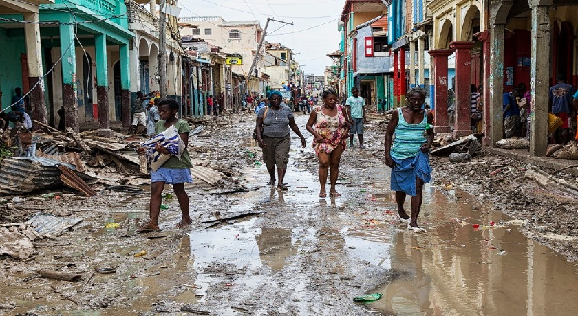 Haiti hit by hurricane matthew credit creative commons