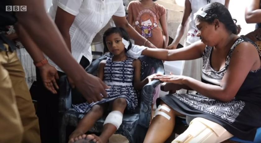Injured people Sri Lanka credit BBC
