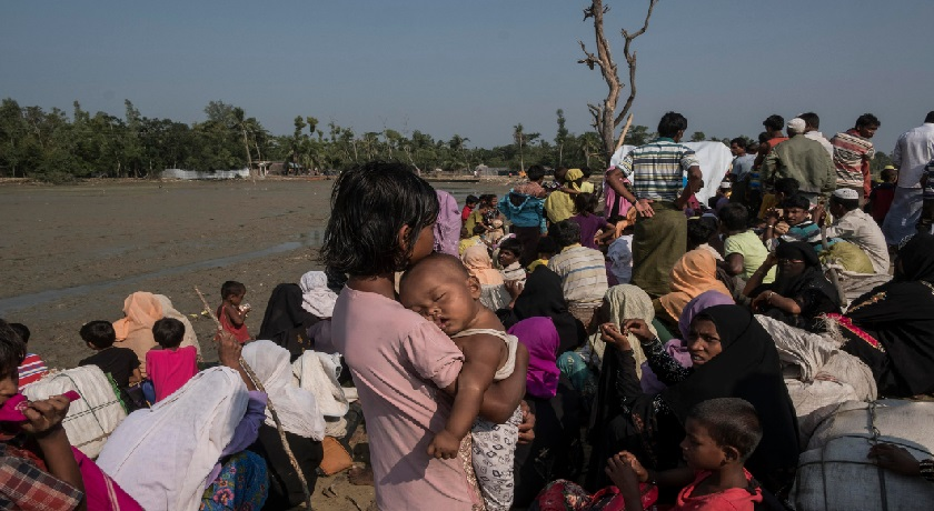 Myanmar refugees at the Bangladesh border credit Catholic Diocese of Saginaw Flickr