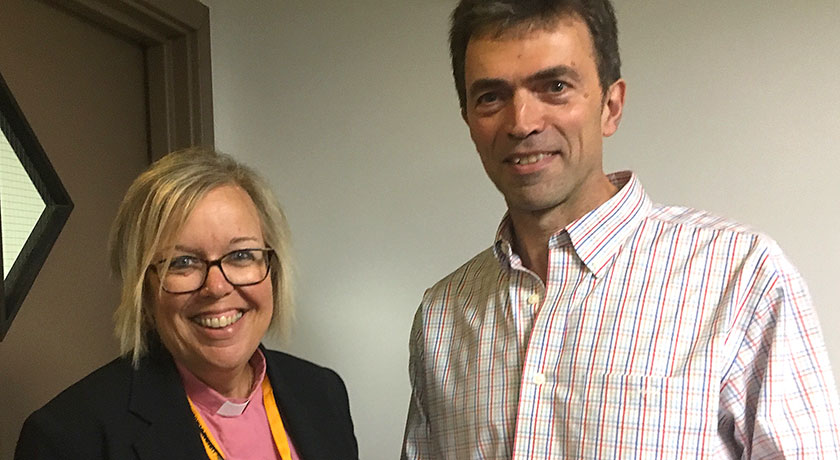 Nicola Furley Smith Southern synod moderator with Tom Brake MP