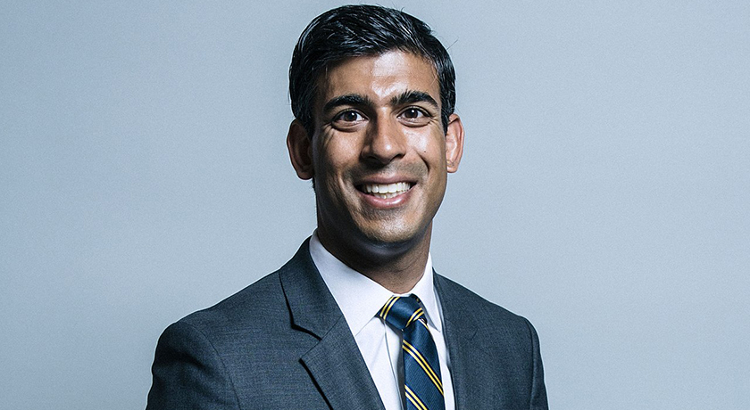 Official portrait of Rishi Sunak SF