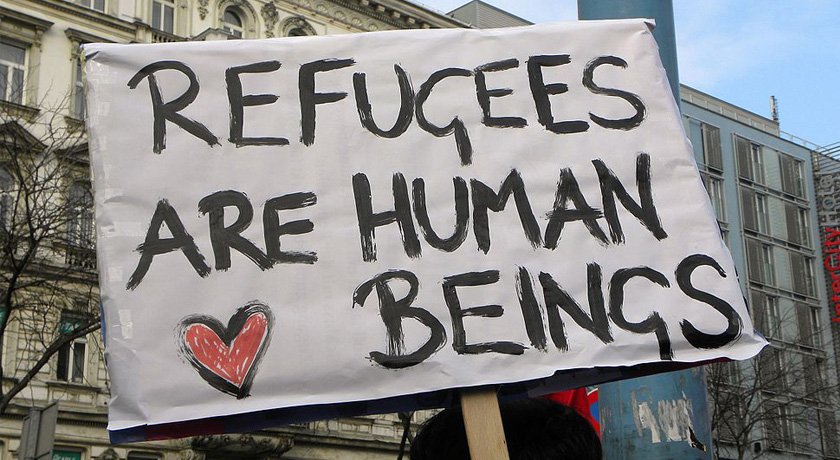 Refugees are human beings credit Haeferl