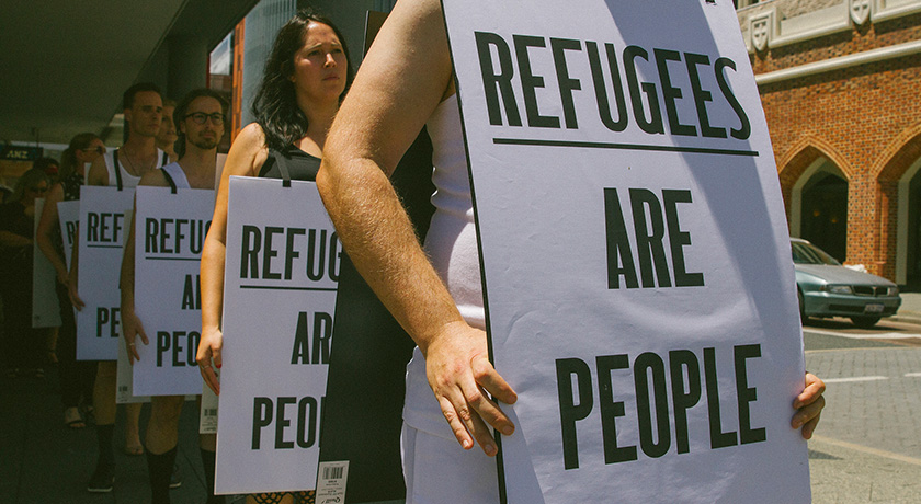 Refugees are people credit Louise Coghill