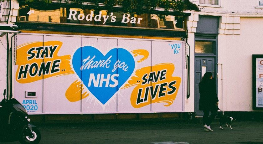 Stay Home Save Lives Thank you NHS credit Edward Howell Unsplash