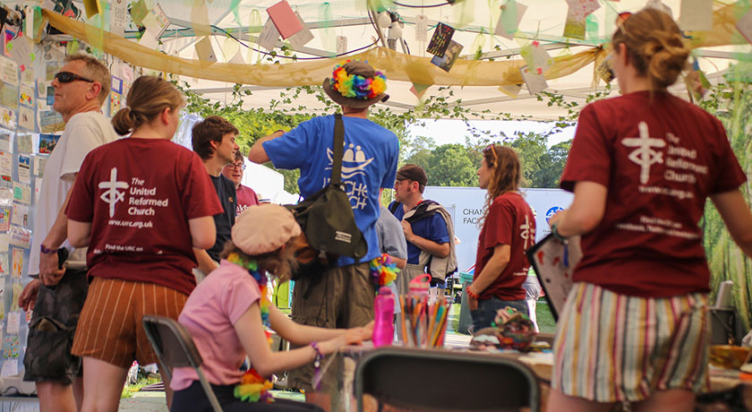 URC Tent people Chris Andrews