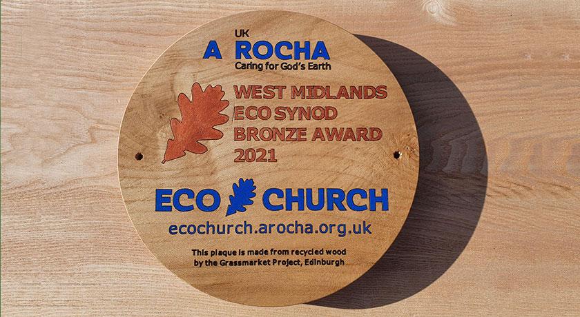 WM Synod eco plaque 2021