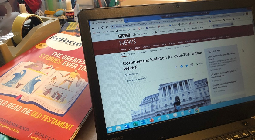 coronavirus story laptop reform amj