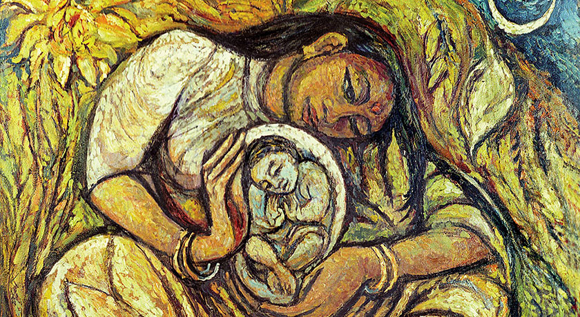 jyoti sahi the dalit madonna credit from the Methodist Modern Art Collection TMCP used with permission
