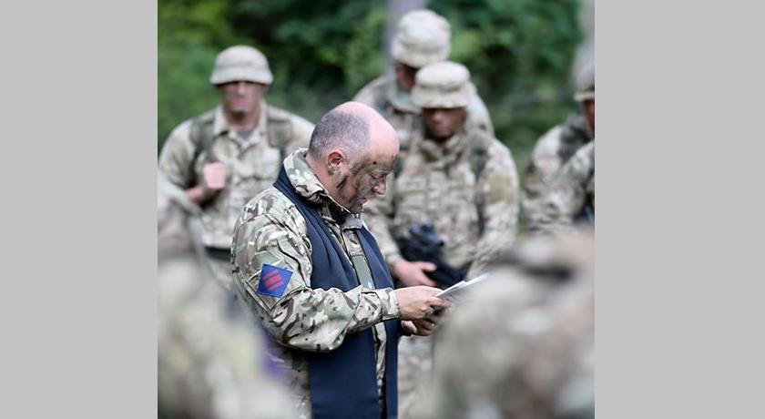 news banner the Revd Stuart Turner CF with 23 Parachute Engineer Regiment in 2016
