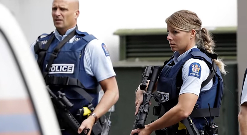 Police at new zealand shooting credit The Lallantop
