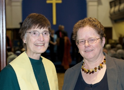 Val Morrison and Clare Downing