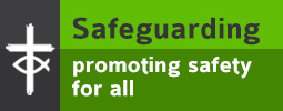 Graphic link with the words: Safeguarding: promoting safety for all